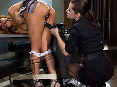 Exotic bdsm, lesbian porn scene with fabulous pornstars Bobbi Starr and Yasmine de Leon from Wiredpussy