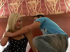Amazing pornstar Ashley Johnson in horny cunnilingus, blonde porn clip