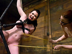 Exotic brunette, bonfage gang xxx improvisation video with amazing pornstars Claire Adams and Sybil Hawthorne from Whippedass