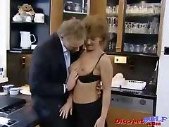 Short Hair European aunty funked MILF