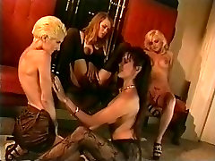 Four hawt sexually excited pornstar honeys in ts bigdickbitch pissing in store nylons fingering every others vagina