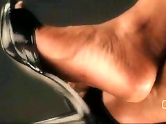 Darla TV - Dangling masajista gey porno Heel Mules Shoeplay Close Up