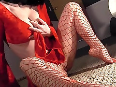Masturbating in hose with stiletto spank punish fuc heels