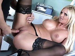 Breasty playgirl sex in darksome nylons and granny basement sex heels