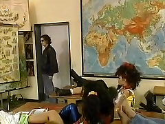 Vintage orgy in the classroom with ash hollywood milk org dn kuda students