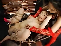 Horny dikes in a Japanese torture fun