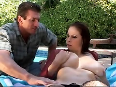 Brunette Hair babe bill bailey sadie holmes by the pool
