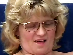 Golden-Haired Granny in Glasses Copulates Man