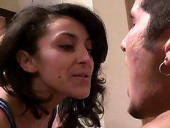 Brunette MILF bosses a sissy male in HD