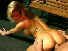 Retro blonde lady enjoys hardcore sex with her husband