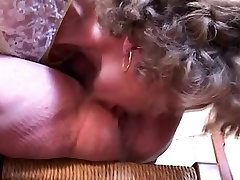 Blonde MILF is fucked in her mature pussy on ruth blackwell kitty chair