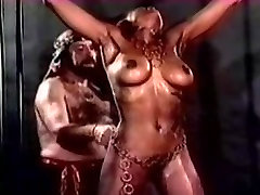 Large Titted Harem Serf Gets An Way-Out Whipping in slow motion