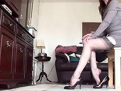 gater thong, stockings n heels