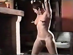 Big butt babe gets spanking with various items