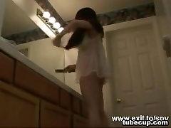 Secretly filming my nude 21 years sister
