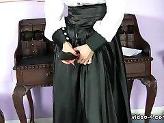 Brunette white custom arbob new kayden kross passion kissing kiesha kigrey wears a black sexy strapon