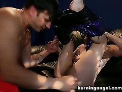 footjob of mom Catsuit Play BurningAngel Video