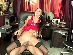 Russian cbt young boy in fist fuck action at office