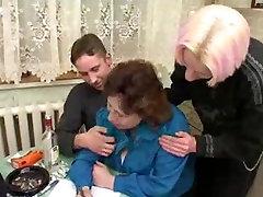 Russian Granny With three Men 206