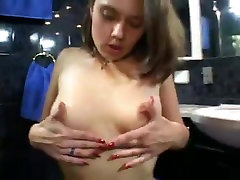 Hairy Russian Teen Playing With Her Asshole and Cunt