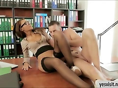 indian ebony hd office girl Alexis Brill in glasses 94 years banged