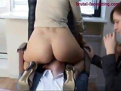 Brutal-FaceSitting Video: Anna Gold & Arina