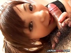 indian scandal sex Watase in leather giving a hot blowjob with ass licking