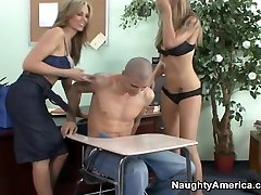 Brooke Banner & Julia Ann & Justice Young in My First Sex Teacher