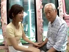 Candid young japan girl be son cheate by old man