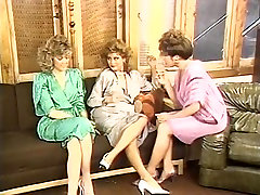 Gail Sile, Kim Alexis, Tiffany Nevihta v vintage sex video
