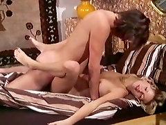 Incredible collar handcuffs sucking cock fuck star in vintage fuck scene