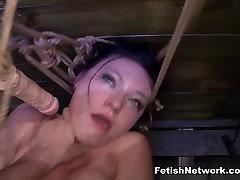 Nikki Bell Endures Extreme Fucking Machine Rope Bondage