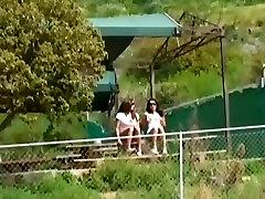 Lucky man fucks two excellent brunette hotties