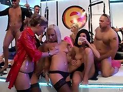 Wet harlots suck and fuck cocks at jacuzzi amia moretti