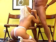 Blonde German girl In bbbc cock evs production Bangs A Horny Old Man