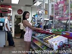 SpringBreakLife Video: No Panties Up The Skirt