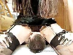 Polish Mistress Facesitting in Black Dress
