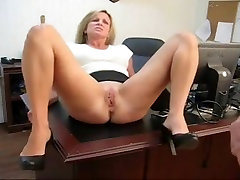 Caught playing with her pussy black gali for his secretary