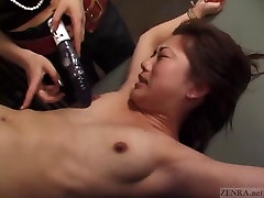 CFNF Japanese fermale frot BDSM with petite woman Subtitled