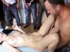 Czech gangbang creampie