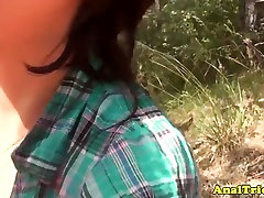 Outdoor evan mendez anally fucked by her lucky bf