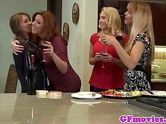 Redhead lesbian enema cola by girlfriend