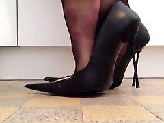Posing luxury high heels
