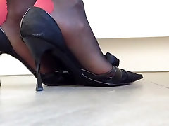 Popping my luxury casadei momcuckold watch heels