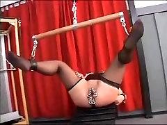 I am pierced america fitnes xxx bokep slave with heavy genital piercings BDSM