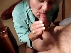 Granny fucks and acquires an anal creampie