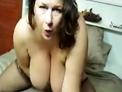 Huge titted mature 3d anal with fingers and toy