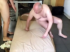 Older bear fucks his slutty crossdressing sissy