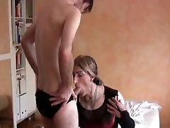 CD in stockings gets fucked and fisted