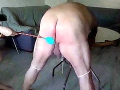 Fat naith sax is tied and spanked by his amateur boyfriend